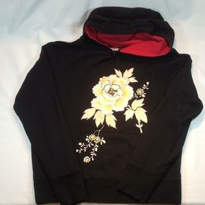 Lucky Brand Embroidered Hoodie Sweatshirt